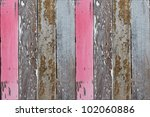 Grunge Wood Panels With Old...