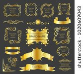 set of vector graphic elements... | Shutterstock .eps vector #1020609043