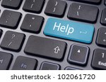 keyboard message with internet or online supports or help concepts. - stock photo