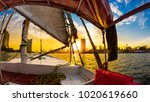 felucca ride on the nile  cairo ... | Shutterstock . vector #1020619660