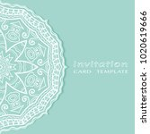 invitation or card template... | Shutterstock .eps vector #1020619666