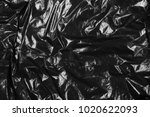 black plastic bag texture and... | Shutterstock . vector #1020622093
