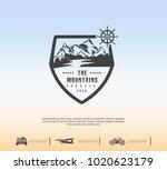 mountain logo  travel emblem   Shutterstock .eps vector #1020623179