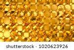 gold metal background texture.... | Shutterstock . vector #1020623926
