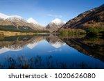 lochan etive  glen etive in the ... | Shutterstock . vector #1020626080