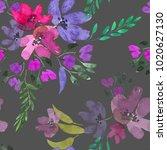 watercolor flowers. seamless... | Shutterstock . vector #1020627130