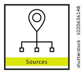 sources location vector icon