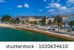 aerial. stone town  zanzibar ... | Shutterstock . vector #1020654610
