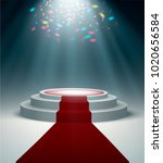 stage podium with lighting ... | Shutterstock .eps vector #1020656584