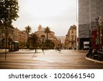sunset in the streets of nice ...   Shutterstock . vector #1020661540
