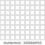 seamless geometric ornamental... | Shutterstock .eps vector #1020666910