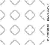 seamless geometric ornamental... | Shutterstock .eps vector #1020666934