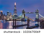 city skyline at sunset with... | Shutterstock . vector #1020670069