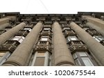 the facade of old apartment... | Shutterstock . vector #1020675544