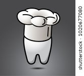 vector funny wisdom tooth...   Shutterstock .eps vector #1020677080