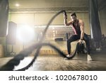 training at the gym | Shutterstock . vector #1020678010