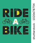 bike ride poster colorful route ... | Shutterstock .eps vector #1020678754