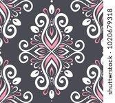 ornamental seamless pattern.... | Shutterstock .eps vector #1020679318