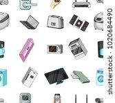 modern household appliances... | Shutterstock . vector #1020684490