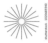 vintage sunburst design vector...   Shutterstock .eps vector #1020685540