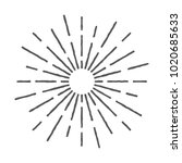 vintage sunburst design vector... | Shutterstock .eps vector #1020685633