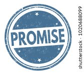 promise sign or stamp on white... | Shutterstock .eps vector #1020688099