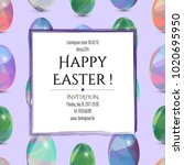 happy easter cards invitation.... | Shutterstock .eps vector #1020695950