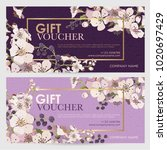 gift certificate for a spa ... | Shutterstock .eps vector #1020697429
