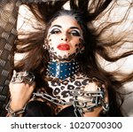 young sexy woman with leopard... | Shutterstock . vector #1020700300