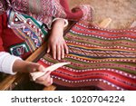 traditional handmade wool... | Shutterstock . vector #1020704224