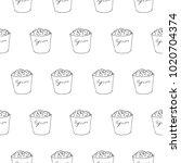 popcorn seamless vector pattern | Shutterstock .eps vector #1020704374