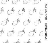 lemon seamless vector pattern | Shutterstock .eps vector #1020704449