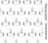candle seamless vector pattern | Shutterstock .eps vector #1020704566