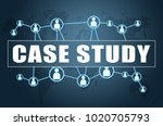case study   text concept on...   Shutterstock . vector #1020705793