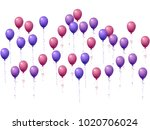 balloons group isolated vector... | Shutterstock .eps vector #1020706024