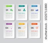 infographic design template 3d... | Shutterstock .eps vector #1020711880