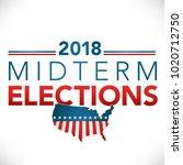 election header banner w  vote  | Shutterstock .eps vector #1020712750
