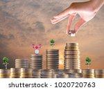interest investment ideas ...   Shutterstock . vector #1020720763