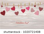 a red heart with a picture...   Shutterstock .eps vector #1020721408