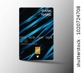 realistic detailed credit cards.... | Shutterstock .eps vector #1020724708