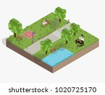 illustration set of pixelated... | Shutterstock . vector #1020725170