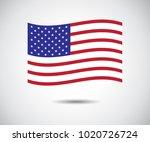 american flag vector... | Shutterstock .eps vector #1020726724