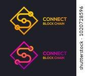letter s colorful dots logo... | Shutterstock .eps vector #1020728596