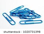 a studio photograph of blue... | Shutterstock . vector #1020731398