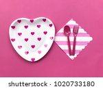 Closeup Pink Heart Printed...