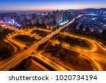 shanghai elevated road junction ... | Shutterstock . vector #1020734194