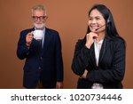 studio shot of senior... | Shutterstock . vector #1020734446