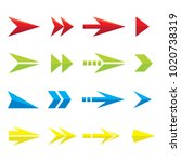 design colorful arrow icons | Shutterstock .eps vector #1020738319