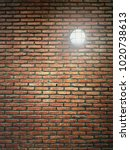 brick wall for decoration. lamp ... | Shutterstock . vector #1020738613