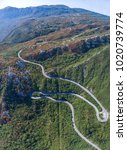 panoramic aerial view on road... | Shutterstock . vector #1020739774